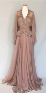 シルクシフォンのイブニングドレス