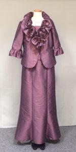 綺麗な色の大きなサイズの母親ドレス