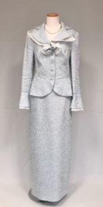 綸子調、高級素材の母親ドレス