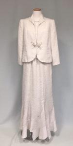 白、綸子調織、皇室行事ドレス