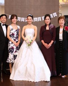 花嫁のファミリー